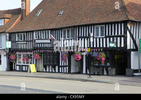 The Lemon Tree Restaurant in heavily timbered former 15th Century Wealden Hall House Tenterden Kent UK GB - Stock Photo