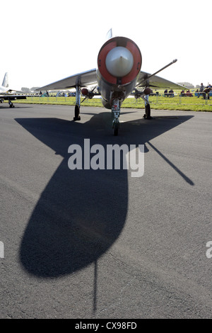 Supersonic Lightning F3 as part of the RAF Leuchars static display in their 2012 Airshow - Stock Photo