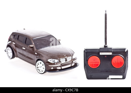 A radio controlled toy car on white background - Stock Photo