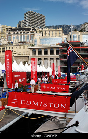 Edmiston brokers banners at the 2012 Monaco Yacht Show - Stock Photo