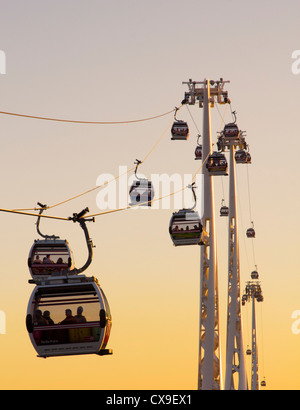 Emirates Air Line Cable Car - London - Stock Photo
