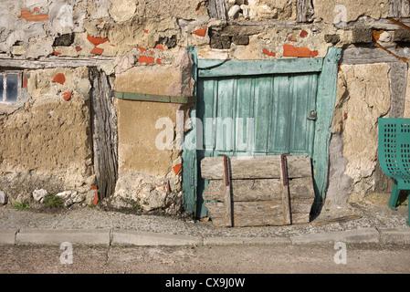 Old wooden doors, Spain. - Stock Photo