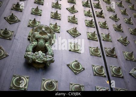 Main door at the cathedral of Saint James in Santiago de Compostela, Spain.