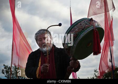 tibetan schaman - Stock Photo