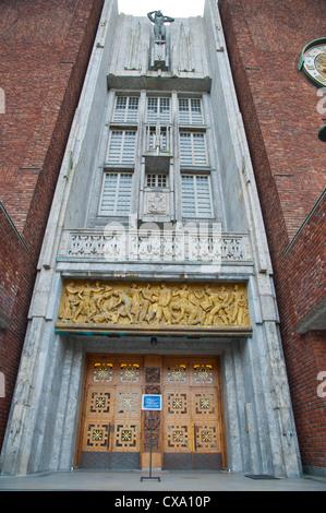 Rådhus the Town Hall (1950) Sentrum central Oslo Norway Europe - Stock Photo