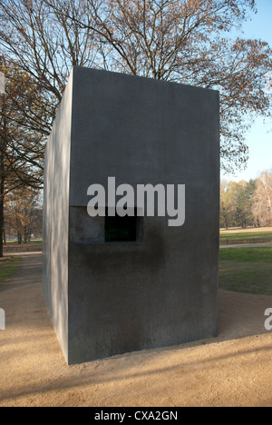 The Memorial for Homosexual Nazi Victims located on the edge of Tiergarten park along Ebertstrasse in Berlin, Germany - Stock Photo