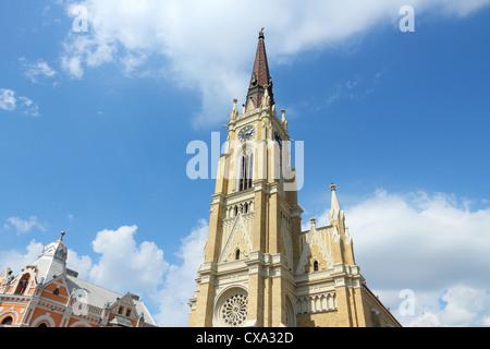 Novi Sad, Serbia - city in the region of Vojvodina. The Name of Mary Catholic church. - Stock Photo
