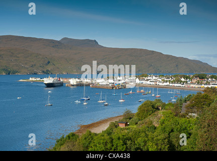 Ullapool, fishing and tourist ferry port on Loch Broom, Wester Ross Highland Region Scotland.  SCO 8531 - Stock Photo