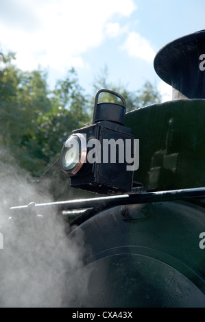 Steam locomotive's oil lamp - Stock Photo