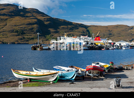 Ullapool, fishing and tourist ferry port on Loch Broom, Wester Ross Highland Region Scotland.   SCO 8534 - Stock Photo