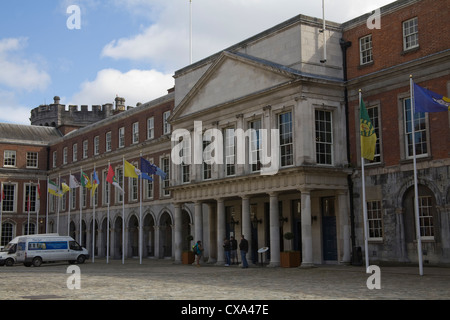 Dublin City Eire EU Formerly the residence of Viceroys The State Apartments are the most important ceremonial rooms - Stock Photo