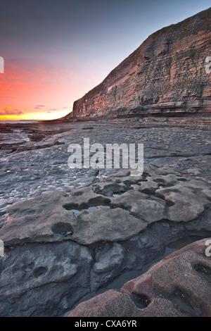 Dunraven Bay on the Glamorgan Heritage Coastline Southerndown, Glamorgan, Wales, UK. - Stock Photo