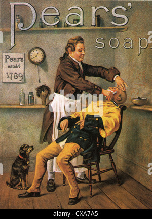 PEARS SOAP advert in 1891 - Stock Photo