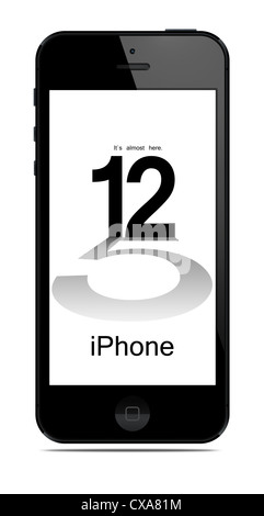 New Apple iPhone 5 was released for sale by Apple Inc on September 12, 2012. - Stock Photo