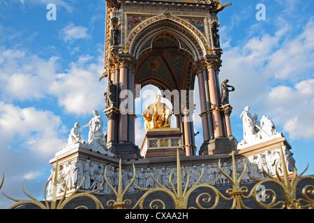 The Albert Memorial, Kensington Gardens, London, England - Stock Photo