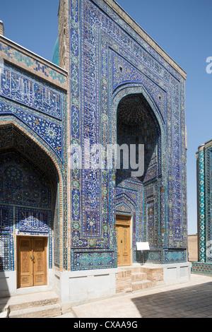 Tomb of Tuman Agha, Shah-i Zinda necropolis, Samarkand, Uzbekistan - Stock Photo