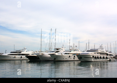 Boats in Palma De Mallorca, Spain - Stock Photo