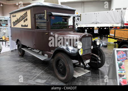 Opel Oldtimer Van at the International Motor Show for Commercial Vehicles - Stock Photo