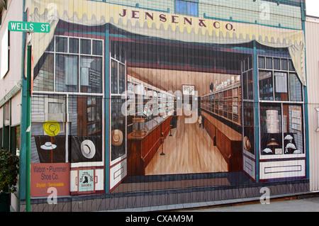 mural jensen & company enumclaw washington wa buy buying shop shopping business commercial commerce deal - Stock Photo