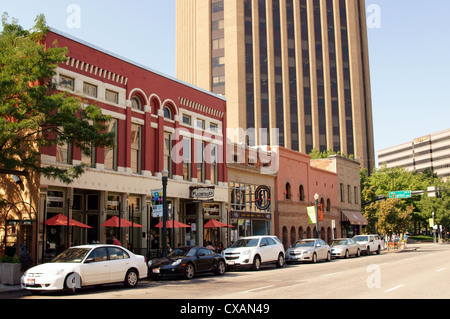 main street capitol boulevard boise idaho id buy buying shop shopping business commercial commerce deal - Stock Photo