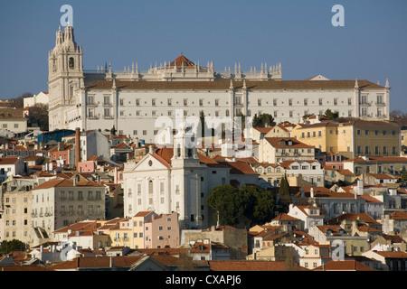 Santa Luzia church and Sao Vicente monastery, Lisbon, Portugal, Europe - Stock Photo