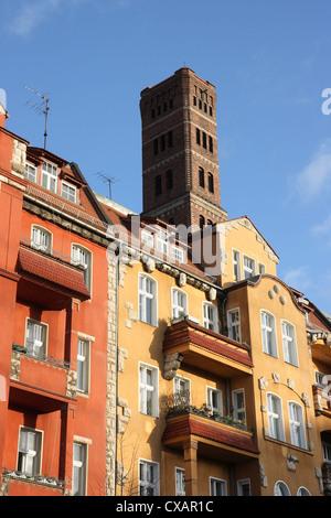 Berlin, pellet tower - Stock Photo
