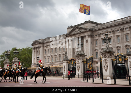 Household Cavalry at the 2012 Trooping the Colour ceremony on the Mall and at Buckingham Palace, London, England, United Kingdom