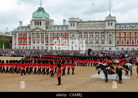 Soldiers at Trooping the Colour 2012, The Birthday Parade of the Queen, Horse Guards, London, England, United Kingdom, - Stock Photo