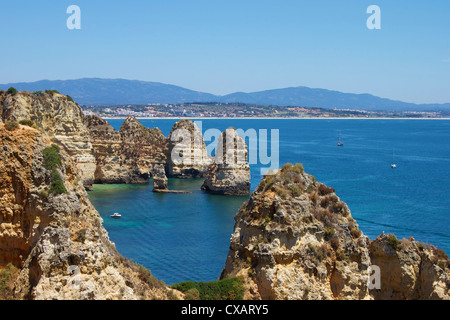 Ponta da Piedade, Lagos, Algarve, Portugal, Europe - Stock Photo