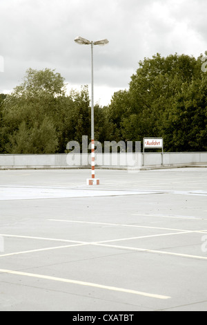 Warthausen, empty parking deck - Stock Photo