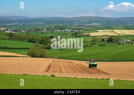 Dartmoor from near Kingsbridge, Devon, England, United Kingdom, Europe - Stock Photo