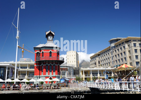 Clock Tower, the Waterfront, Cape Town, South Africa, Africa - Stock Photo