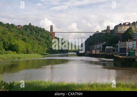 Clifton Suspension Bridge, Avon Gorge, Bristol, England, United Kingdom, Europe - Stock Photo