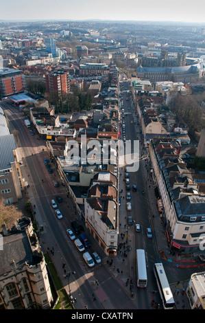 Looking down Park Street, Bristol, England, United Kingdom, Europe - Stock Photo