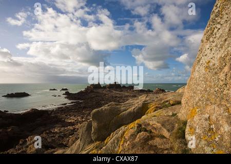 La Corbiere, St. Brelade, Jersey, Channel Islands, United Kingdom, Europe - Stock Photo