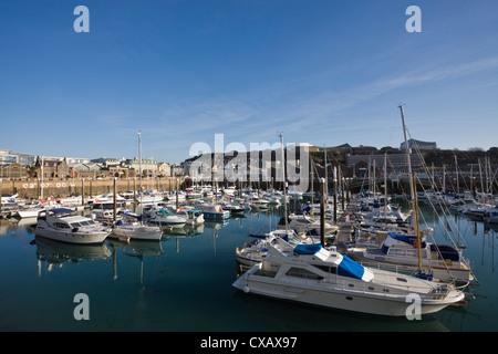 Albert Harbour, St. Helier, Jersey, Channel Islands, United Kingdom, Europe - Stock Photo