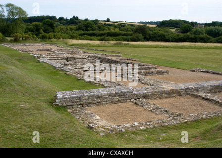 North Leigh Roman villa, the remains of a large manor house dating from the 1st to 3rd century AD, North Leigh, - Stock Photo