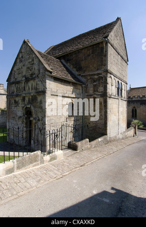 The Saxon Church of St. Lawrence built between 705 and 921AD, Bradford on Avon, Wiltshire, England, United Kingdom, - Stock Photo