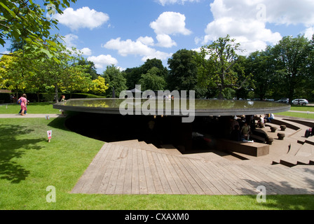 The 2012 Serpentine Gallery pavilion by Herzog, de Meuron and Ai Weiwei, Serpentine Gallery, Kensington Gardens, - Stock Photo
