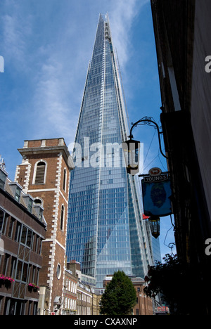 The Shard, the tallest building in Western Europe, designed by Renzo Piano, London Bridge, London, SE1, England, - Stock Photo
