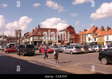 Market Square in Beverley Town Centre, East Yorkshire - Stock Photo