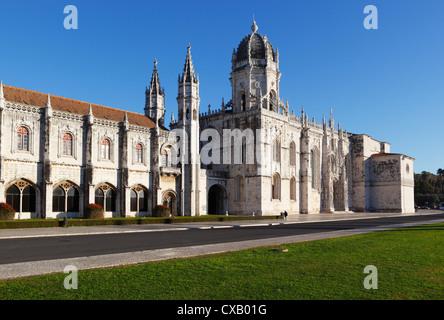 Mosteiro dos Jeronimos, UNESCO World Heritage Site, Belem, Lisbon, Portugal, Europe - Stock Photo