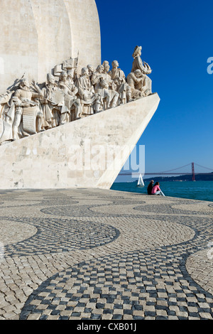 Monument to the Discoveries, Belem, Lisbon, Portugal, Europe - Stock Photo