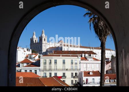 Sao Vicente de Fora church, Alfama, Lisbon, Portugal, Europe - Stock Photo