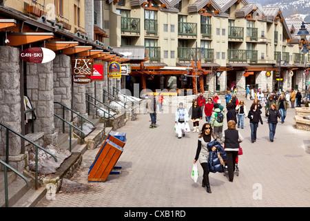 Whistler Blackcomb Ski Resort, Whistler, British Columbia, Canada, North America - Stock Photo