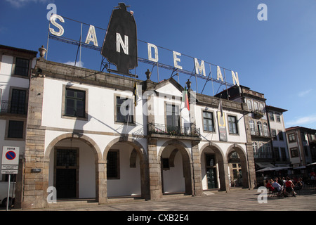 Sandeman Port Wine Lodge, Vila Nova de Gaia, Porto, Douro, Portugal, Europe - Stock Photo