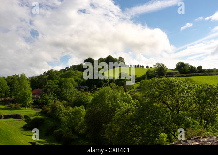 View from Montgomery Castle, Powys Mid Wales UK - Stock Photo