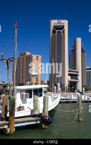 One Shoreline Plaza on the waterfront of Corpus Christi, Texas, USA. - Stock Photo