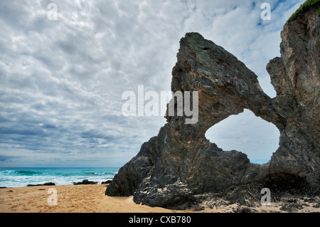 Australia Rock at the beach of Narooma. - Stock Photo