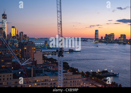 New York, NY, USA, Nighttime Overviews, Cityscapes from Top of the Standard Hotel Rooftop, Meatpacking DIstrict, - Stock Photo